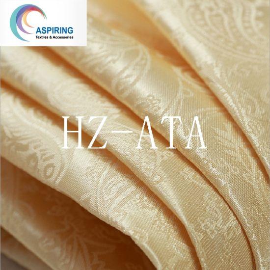 100% Polyester Satin Jacquard Curtain Fabric