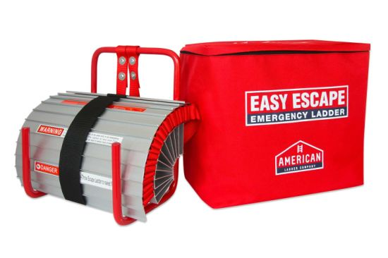 Easy Escape 2 Story Emergency Fire Escape Ladder by American Ladder 13 FT Portable Escape Ladder