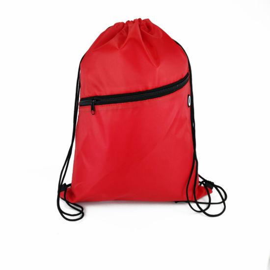 Drawstring Bag Logo Polyester Drawstring Bag Athletic Equipment Bag Sport Bag