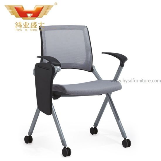 Multifunctional Moveable Office Mesh Fabric Training Chair with Writing Table (HY-930H-1)