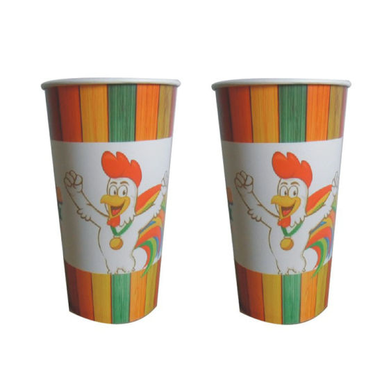 Disposable Cold Drinking Printed Ripple Wall Flower Tea Juice PP Plastic Cup