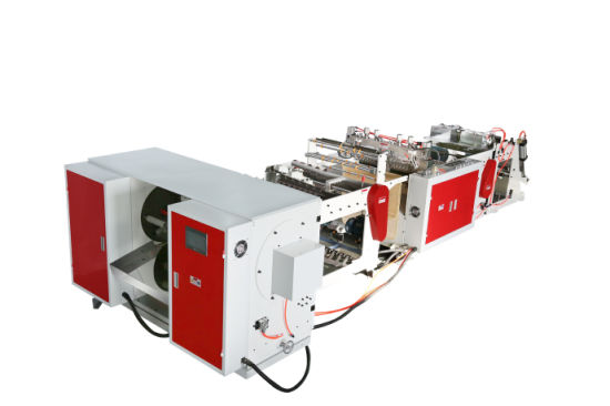 Double Line Coreless in Roll Plastic Garbage Bag Making Machine