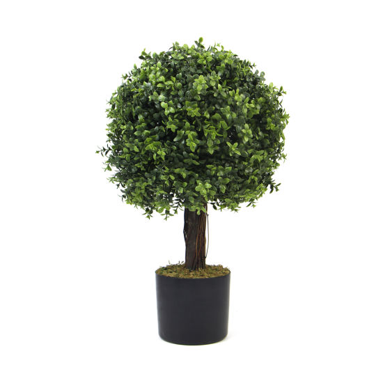 New Design Artificial Decorative Boxwood Balls Artificial Topiary Ball Tree with Pot for Decoration
