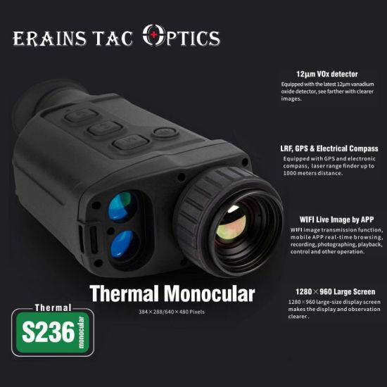 2021 New Advanced Hunting Lrf Functional Handheld 50Hz 12um Pixel 640X480 Observing IR Thermal Imaging Monocular