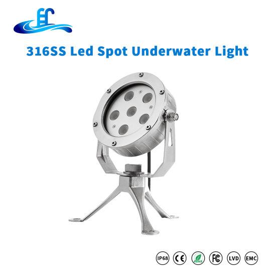18watt 316ss LED Underwater Spot Lighting with Two Years Warranty
