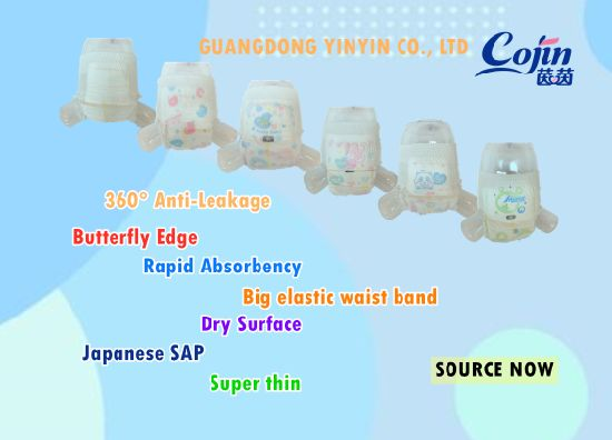 Cojin Yinyin Multi Feature Super Dry Thin Core Breathable Good Quality Cheap Wholesale Baby Adult Disposable Elastic Waist Band Diaper