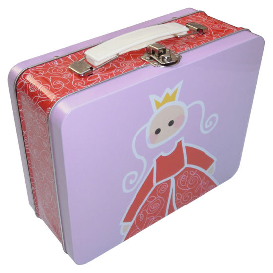 Tin Case with Two Covers, Clasp Handle