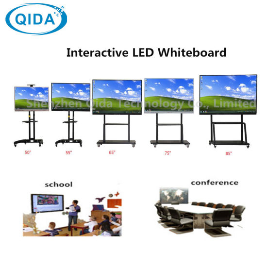 42~84 Inches LED LCD Display Windows I3 I5 I7 Educational Equipment Tempered Glass Interactive Whiteboard