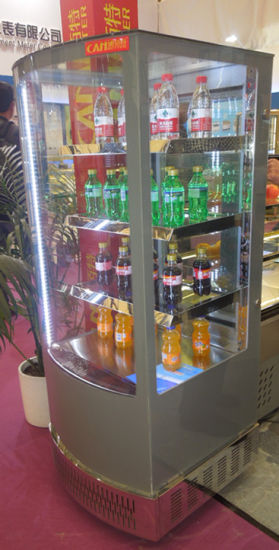 China All Sides Glass Door Display Beverage Cooler