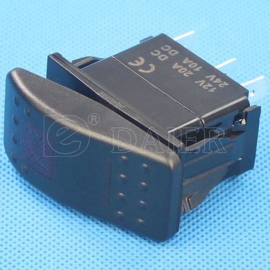 SGS IP67 12V LED Marine Rocker Switch pictures & photos