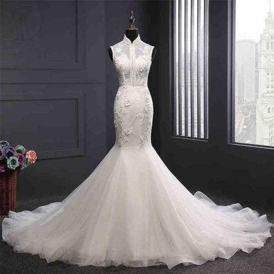 High Collar Mermaid Wedding Dress