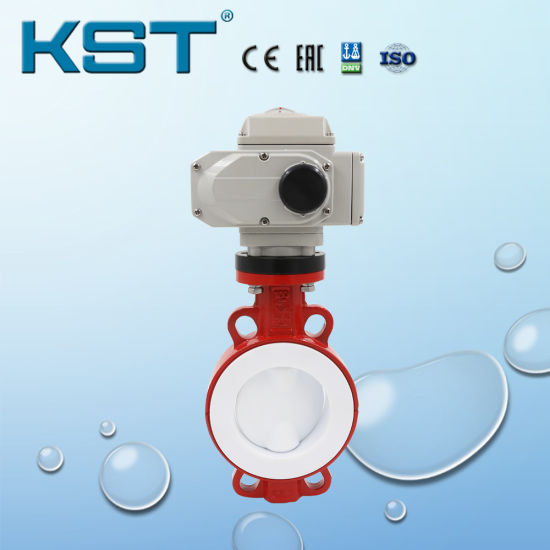 Full PTFE Butterfly Valve with Electric Actuator pictures & photos