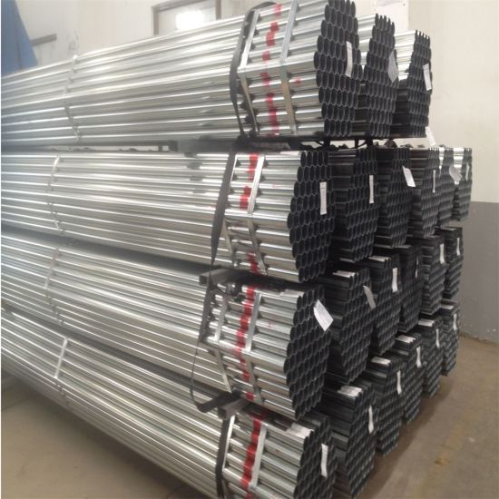 38mm*38mm Pre Galvanized Hollow Section ERW Welded Iron Carbon Gi Round Steel Pipes for Construction Material