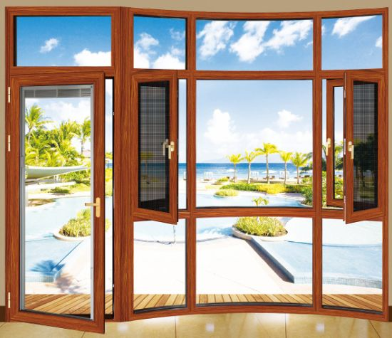 China wood color pvc window and door with best price china pvc.
