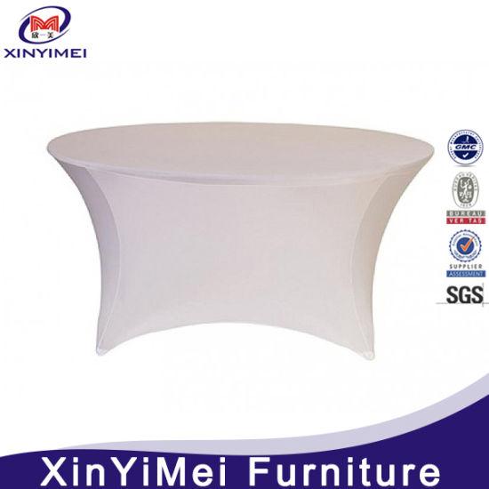 Spandex Elastic Lycra Round Table Cloth (XYM-L24)