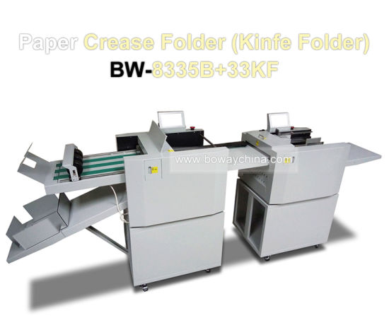 6300 Sheets/H Automatic Industrial Business A3 A4 Lightning Paper Creasing and Knife Folding Machine pictures & photos