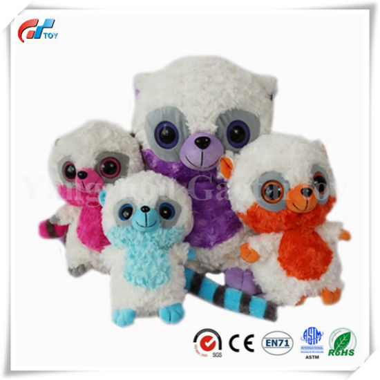 Different Sizes Stuffed Mongoose Toy with a Long Tail and Big Eyes