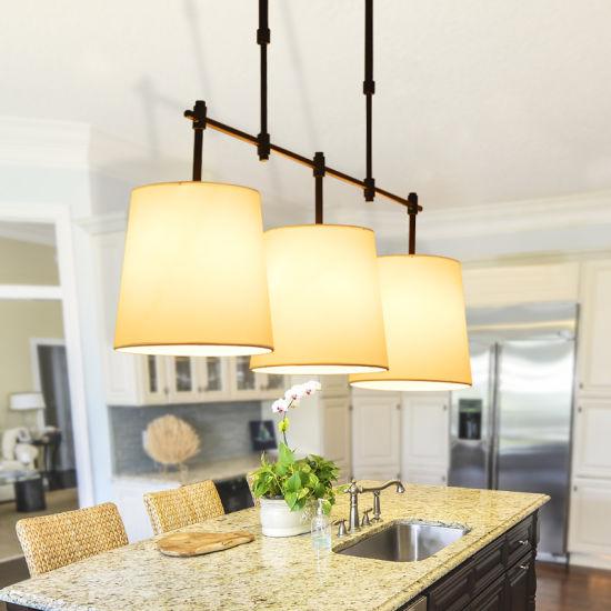 American Retro Loft Round Rustic Fabric Shell Ceiling Pendant Light Vintage Chandelier