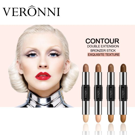 VERONNI 4 Colors 2 In 1 Double-End Contour Makeup Highlight Brighten Concealer Stick Face