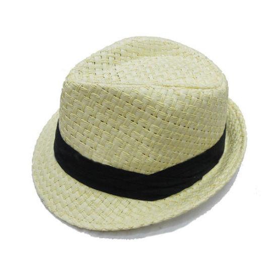 c14244fe784 China Custom Paper Straw Fedora Hat Man Hats - China Straw Hat ...