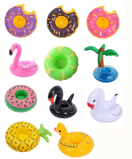 Inflatable Water Coaster Floating Drink Cup Holder Coasters for Pool Party Water Fun pictures & photos