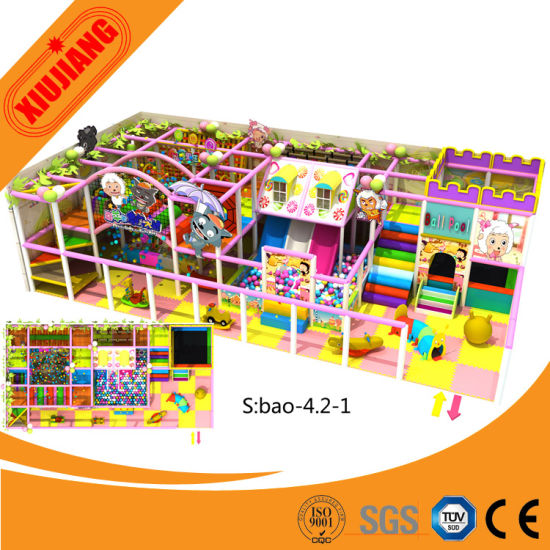 Playground with Soft Games, Ball Pool, Slide for Toddlers (XJ1001-BD28)