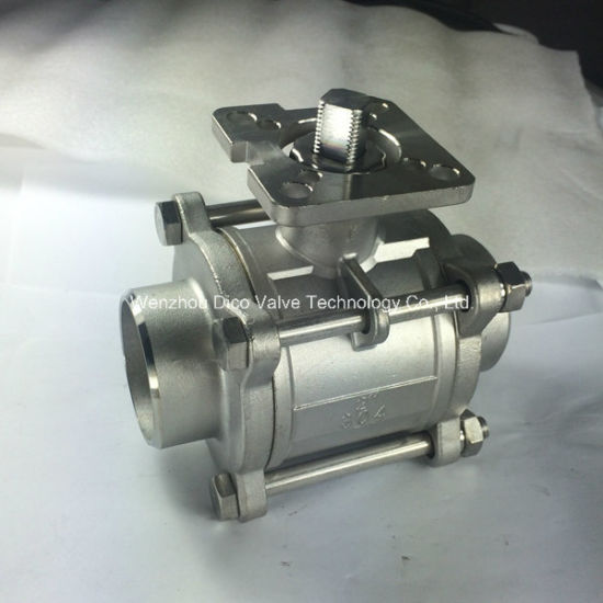 3PC Butt Weld Ball Valve Ce Certified with Mounting Pad pictures & photos