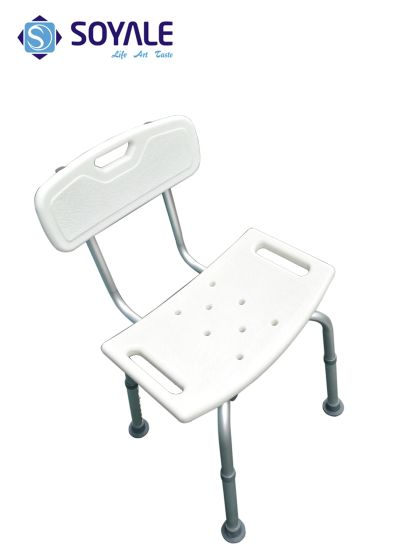 China Bathroom Aluminum Shower Chair Bath Stool Height Adjusable