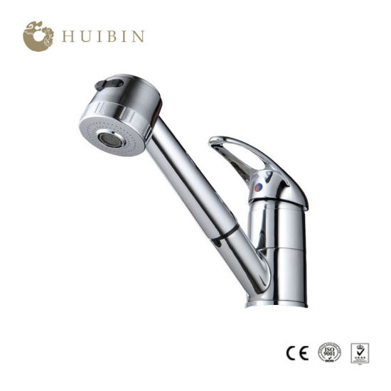 China Brushed Nickel Stainless Steel Single Handle Pull Down Sprayer