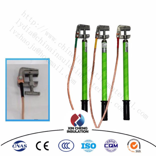 Portable High Voltage Ground Rod with Earthing Wire and Clamp pictures & photos