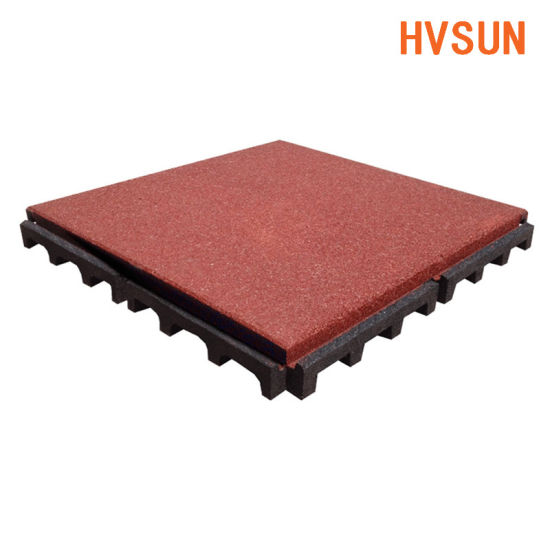 Hot Sale Dark Gray Rubber Patio Pavers For Outdoor Walkway Driveway Garage Flooring