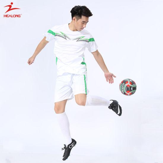 Healong Customized Sportswear Dry Fit Football Jersey with Customized Logo