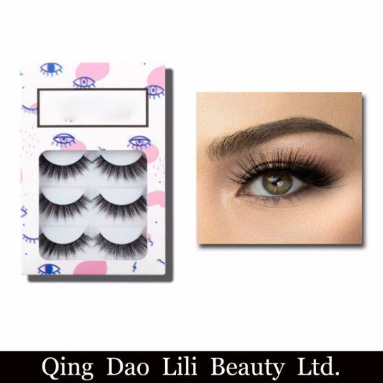 0356a1eb43a 5 Pair Wholesale Thick Long False Eyelashes Fake Eye Mink Lashes Voluminous  Makeup Custom Eyelash Packaging