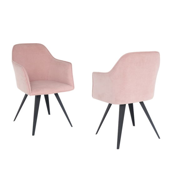 Factory Wholesale Leisure Dining Chair with Fabric and Metal Frame