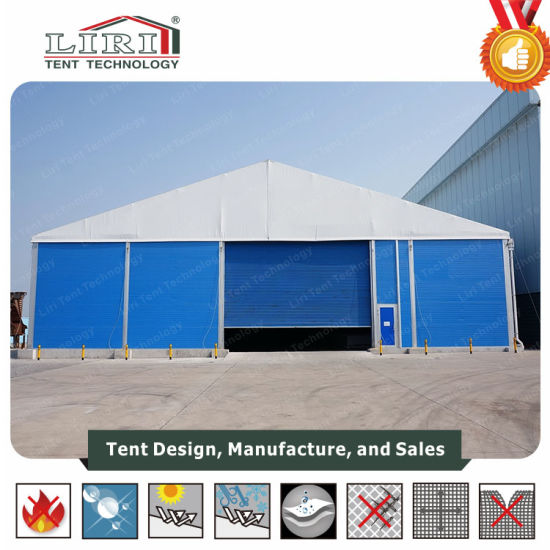 20m Width Temporary Warehouse Industrial Tent with Hard Wall for Sale