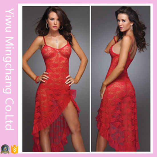 Latest Design Long Type Lace Babydoll Lingerie