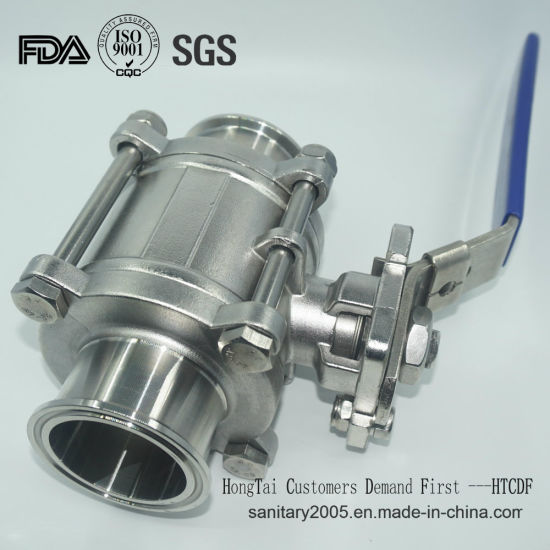 Ss 3 Pieces Full Bore Female Ball Valve for Food Industry