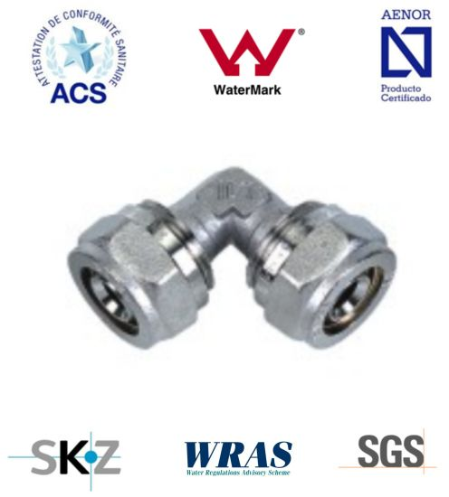 Compression Fitting - Brass Fitting - Plumbing Fitting (Equal Elbow)