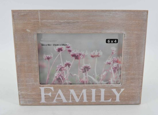 Distressed MDF Silk-Screen Photo Frame for Home Deco pictures & photos