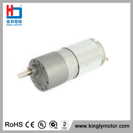High Torque Electric Motor 12V DC Spur Gear Reducer Motor pictures & photos