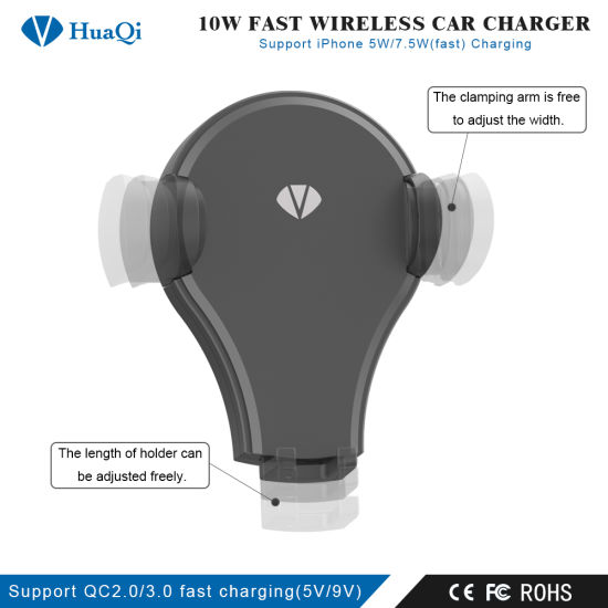 8d02809e542e0e Newest Rotatable Qi Fast Wireless Car Charging Holder/Mount/Power Port/Pad/ Charger/Station for iPhone/Samsung/Huawei/Xiaomi