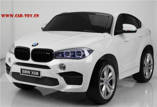 Licensed Bmw X6 Kids Car With 2 Seats Plastic White