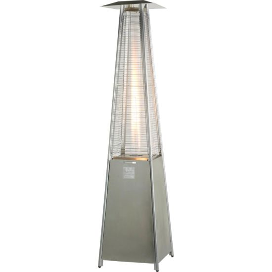 China Quartz Tube Pyramid Tower Outdoor Gas Patio Heater