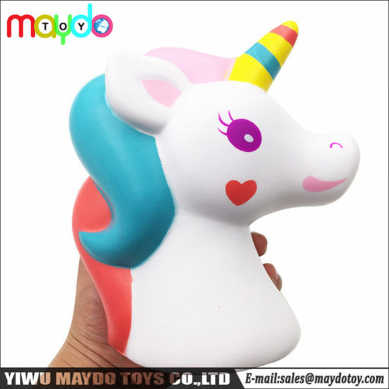 China 2018 Best Selling Squishy Unicorn Toys Scented Soft Slow