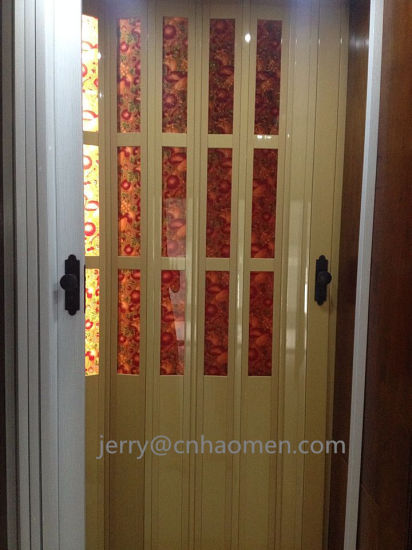 China Pvc Folding Door With Glass For South Africa China Pvc