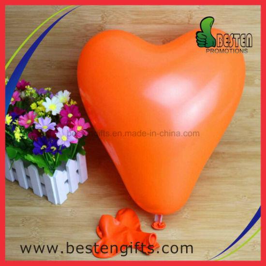Orange Color Heart Shape Custom Helium Latex Balloon