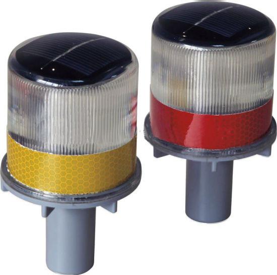 Yellow LED Flashing Solar Traffic Warning Light