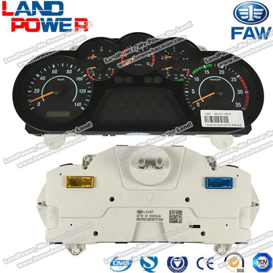 FAW Dump Truck Spare Parts 33801010-D824e Combination Instrument