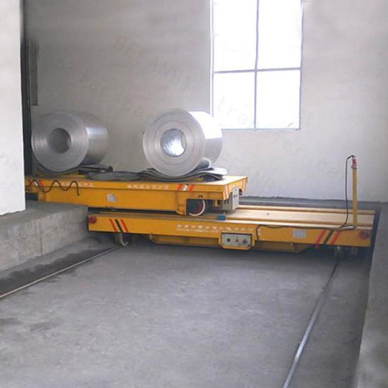 High Efficiency Heavy Load Electric Ladel Transfer Trolley on Rails pictures & photos