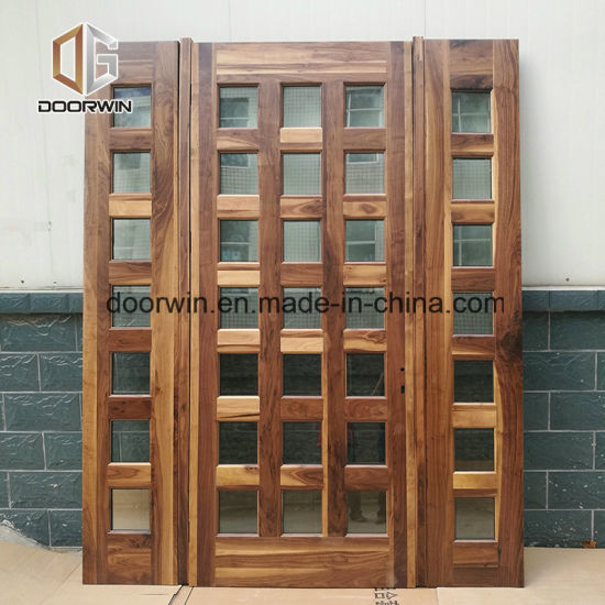 High Quality Glass Barn Door with Grille Design